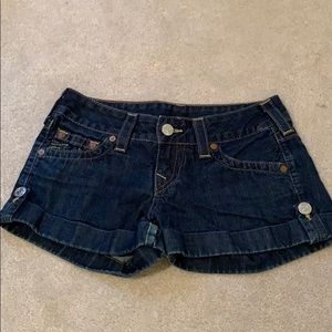True Religion Jess Jean short, size 27